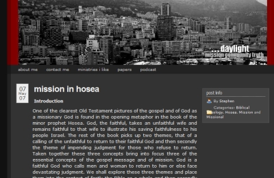 Mission in Hosea article