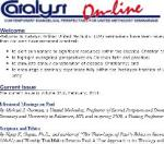 Catalyst Online Journal