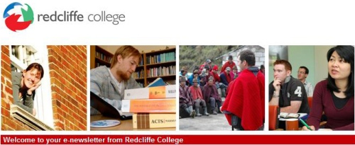 Redcliffe College Enews Header