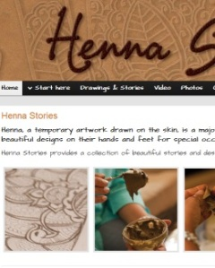 Henna Stories website